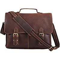 Leather Professional Messenger Bag Laptop Briefcase Brown