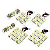 【断トツ162発!!】 T31 エクストレイル(サンルーフ車) LED ルームランプ 6点セット [H19.8~] ニッサン 基板タイプ 圧倒的な発光数 3chip SMD LED 仕様 室内灯 カー用品 HJO
