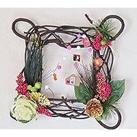 正月リース 迎春飾り アーティフィッシャルフラワー 絵馬 0530
