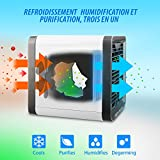 扇風機 卓上 USB 冷風機 冷風扇 ポータブルエアコン ミニエアコンファン ミニポータブルエアコン 冷却・加湿・空気清浄機 7色LED搭載 夜間ライト 風量3段階切り替え 小型 省エネ 静音作業 軽量 携帯性 USB充電式 5V/1.5A-2A 長時間連続動作 上下角度調整可能 熱中症と暑さ対策 自宅用/事務室用/寝室