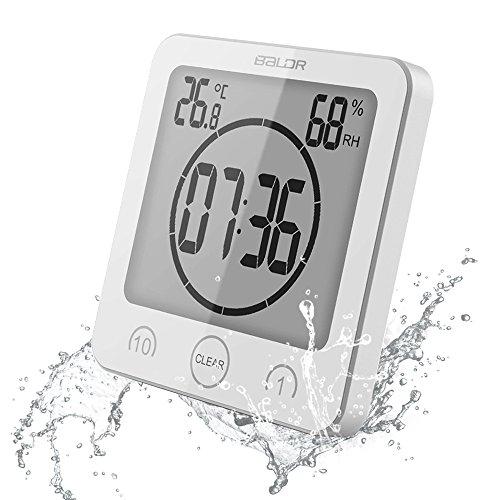 【 a-mumu 】 デジタル温湿度計 [ 時計 タイマー 温度計 湿度計 熱中症 乾燥肌 インフル...