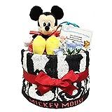 おむつケーキ [ 男の子/ディズニー : ミッキー / 1段 ] パンパースM18枚 (1歳の誕生日プレゼントに大人気)1001 ダイパーケーキ ギフト ハーフバースデー にもおすすめ