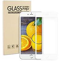 高品質iphone8 ガラスフィルム 全面フルカバー/iPhone7強化ガラスフィルム iphone8 フィルム Stanbow全面保護3Dタッチ対応 硬度9H高透過率耐衝撃 指紋防止 飛散防止 気泡ゼロ