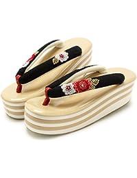 (キステ) Kisste 草履 振袖用 Sサイズ<黒/万寿菊刺繍>ゴールド台 7-1-05582