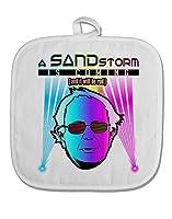 TooLoud Bernie–A Sandstorm is comingホワイトファブリックポットホルダーホットパッド ホワイト T-UP510-TD-SUBHP