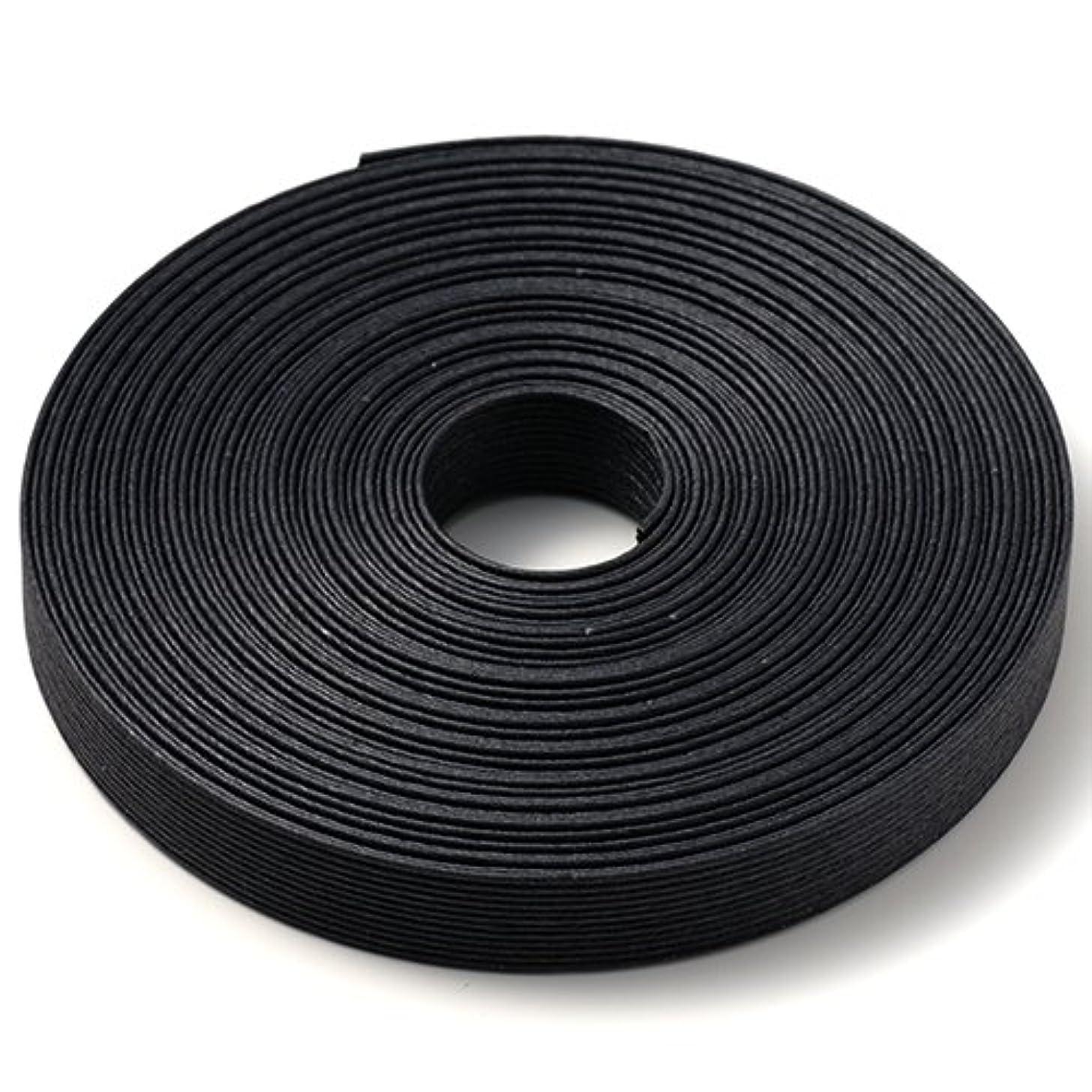 新しさヶ月目慣習手芸用エコクラフトテープ ブラック 199m巻 幅15mm 12芯