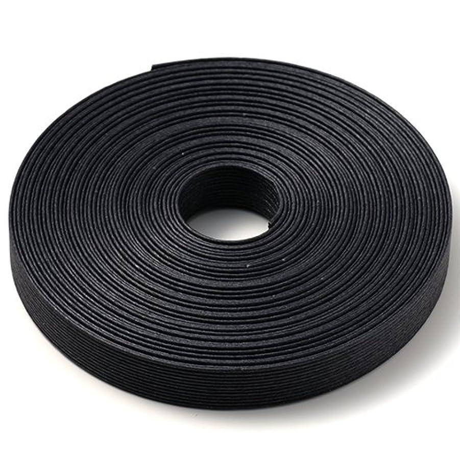 愛するキモい夢手芸用エコクラフトテープ ブラック 400m巻 幅15mm 12芯