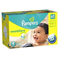 Pampers Swaddlers Diapers Economy Pack Plus, Size 4, (144 Count) (Packaging May Vary) by Pampers