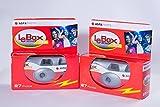 Agfa レンズ付きフィルム LeBox Camera 400 フラッシュ付き 27枚撮り(2台セット)