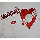 バレンタインハートセンターピース写真ブース小道具テーブルデコレーションValentinesメガネ唇ハート