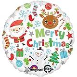 キッシーズ 【クリスマスバルーン】 メリークリスマスアイコン 風船 43cm 29392