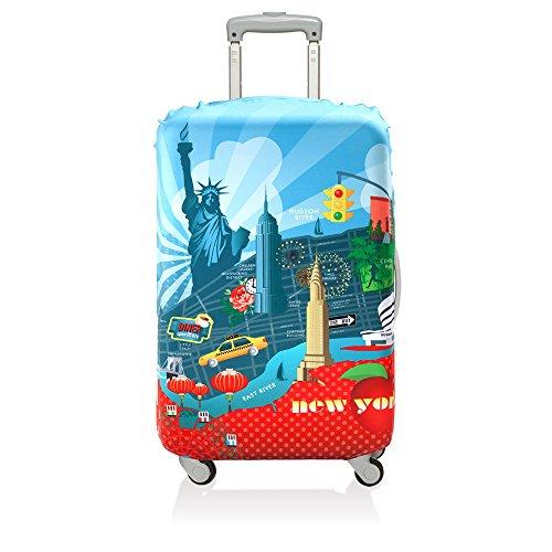 (ローキー) LOQI スーツケース キャリーバック カバー ラッゲージカバー 06.【URBAN】New York【Mサイズ】