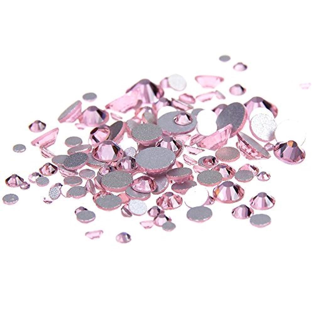 ハント闘争建築Nizi ジュエリー ブランド ライトローズ ラインストーン は ガラスの材質 ネイル使用 型番ss3-ss34 (SS8 1440pcs)