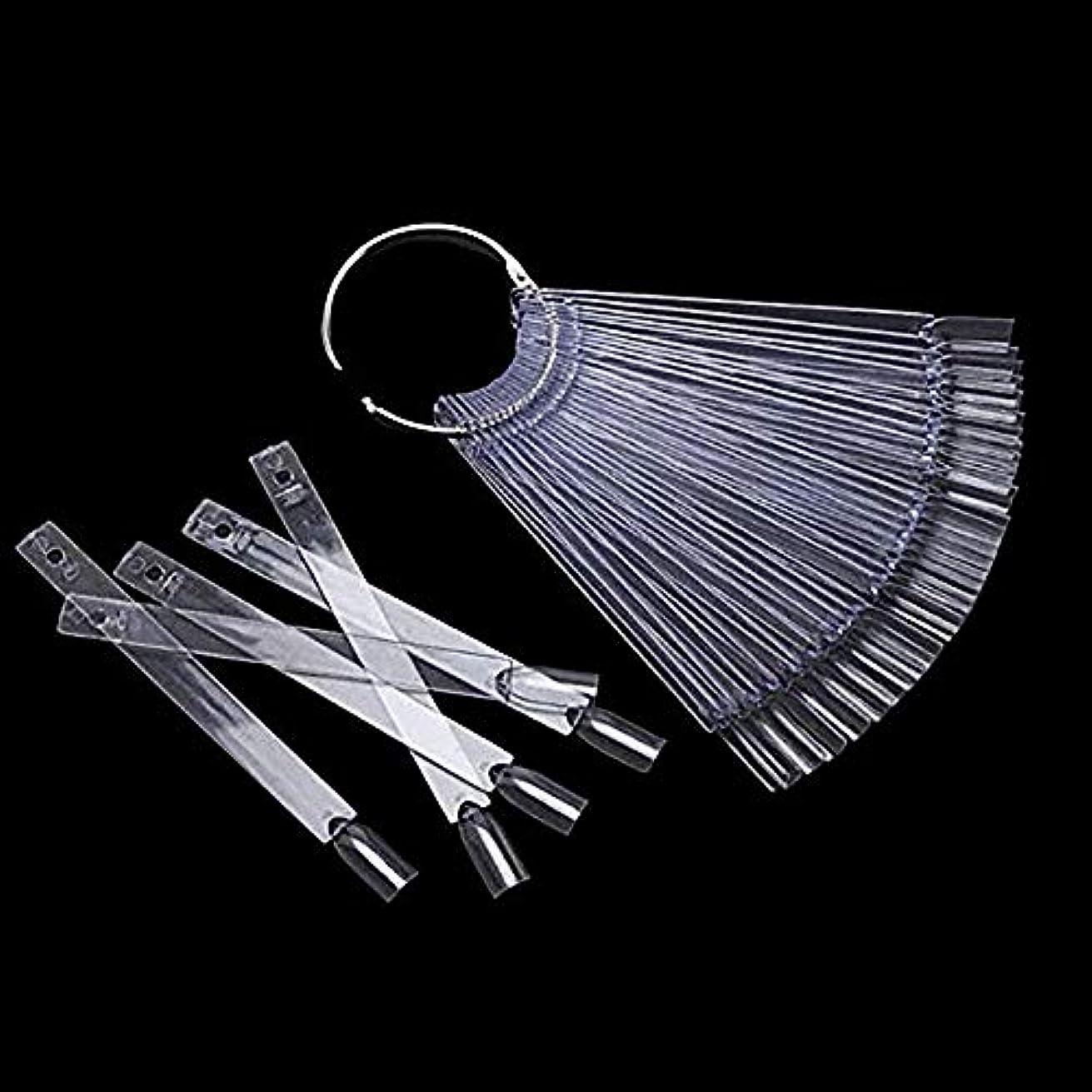 同盟アストロラーベ椅子48本 カラーチャート スティックタイプ クリア ネイル カラーチャート スティック チップ ディスプレイ ア