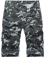 (ヒラロキ) Hilarocky ハーフパンツ メンズ カモフラ ショートパンツ 短パンツ 迷彩 綿 半ズボン チノパン ボトムス L