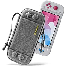 tomtoc Slim Case for Nintendo Switch Lite, Original Patent Protective Portable Carrying Case Travel Storage Hard Shell with 8 Game Cartridges and Military Level Protection, Gray