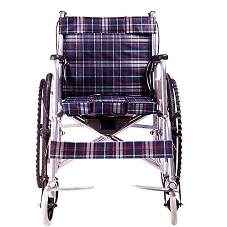 鳩広々収益ハンドブレーキとクイックリリースリアホイールを備えた軽量アルミニウム折りたたみ式セルフプロペール車椅子 (Color : Oxford cloth)