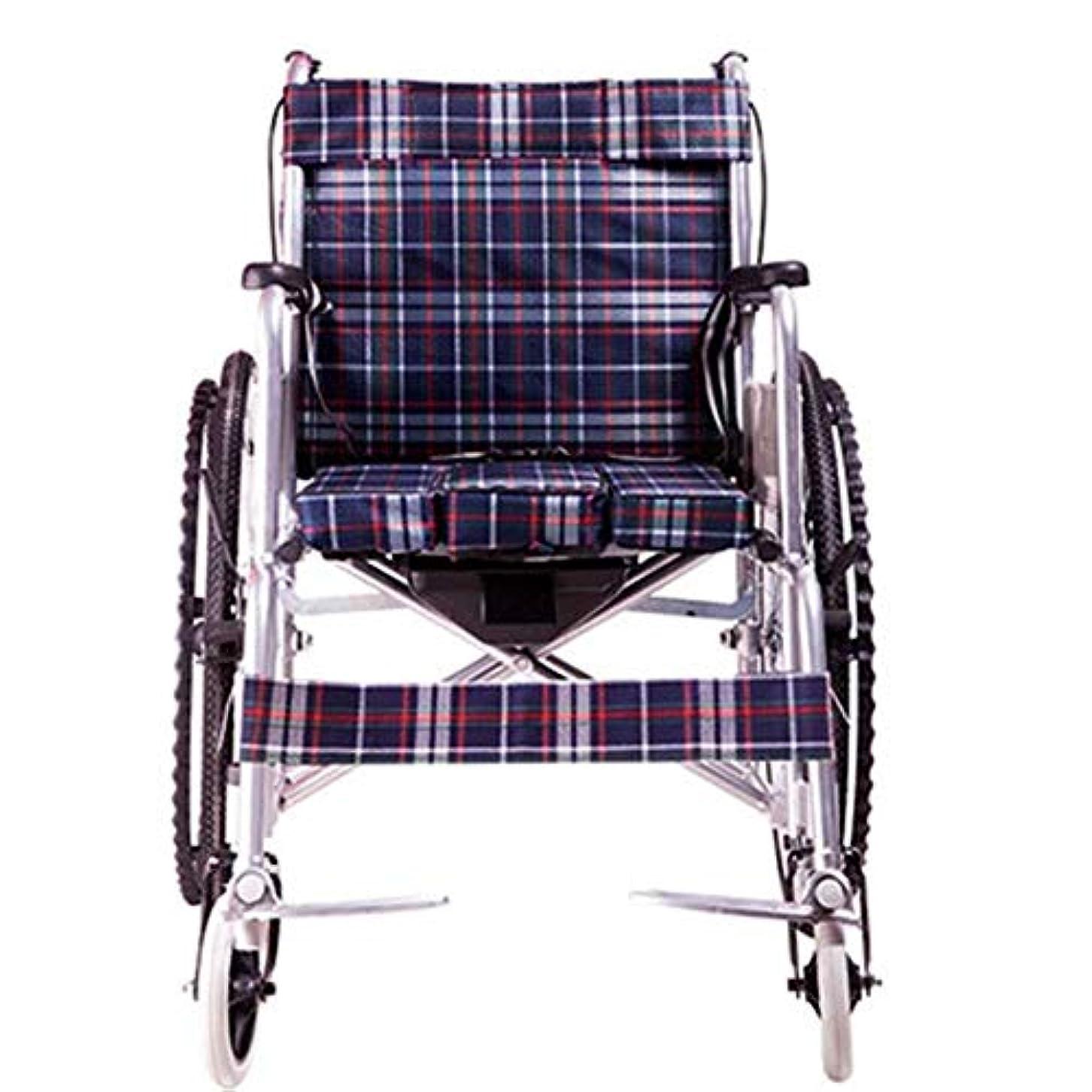 狂ったアーティキュレーションふりをするハンドブレーキとクイックリリースリアホイールを備えた軽量アルミニウム折りたたみ式セルフプロペール車椅子 (Color : Oxford cloth)