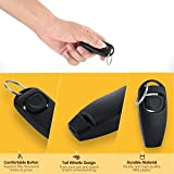 Dog Pet Puppy Cat Training Clicker & Whistle Click Trainer Obedience Black