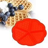 (Ckeyin) シリコン製 かわいいハートクローバーワッフル型 ワッフルメーカー 手作りケーキ、クッキー、焼菓子 DIYベーキングツール
