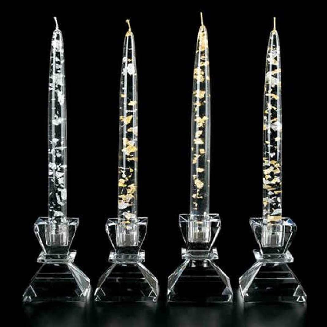 任意忠実ひいきにするBadash Crystal G121 SILVER - GOLD FLECK 8 in. CANDLE
