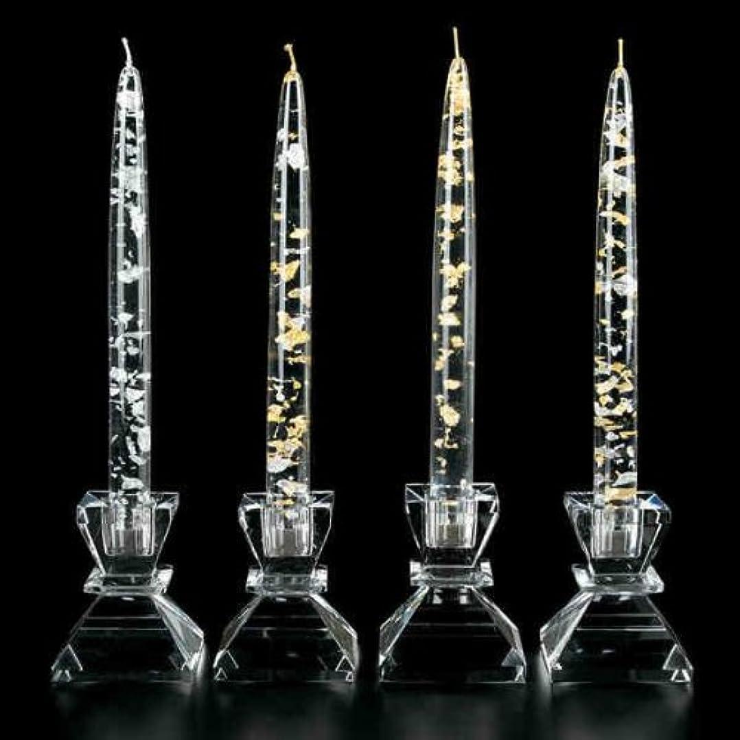 フェデレーション復讐公使館Badash Crystal G121 SILVER - GOLD FLECK 8 in. CANDLE