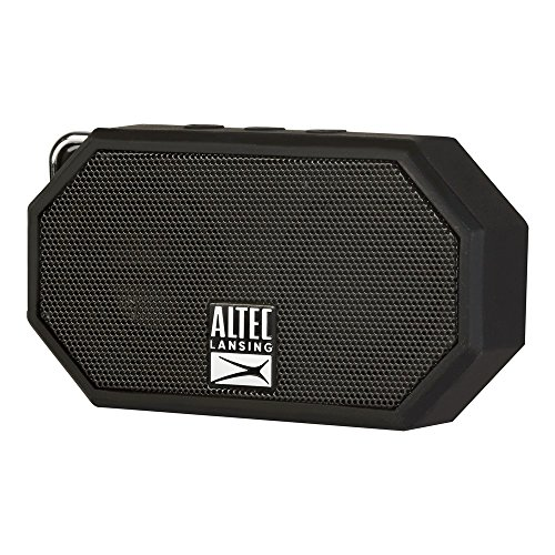 Altec Lansing IMW257-BLK Mini H2O Waterproof, Sandproof, Snowproof and Shockproof Bluetooth Speaker, Black by Altec Lansing