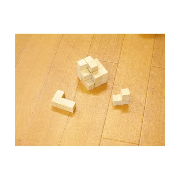 木製キューブパズルの紹介画像2