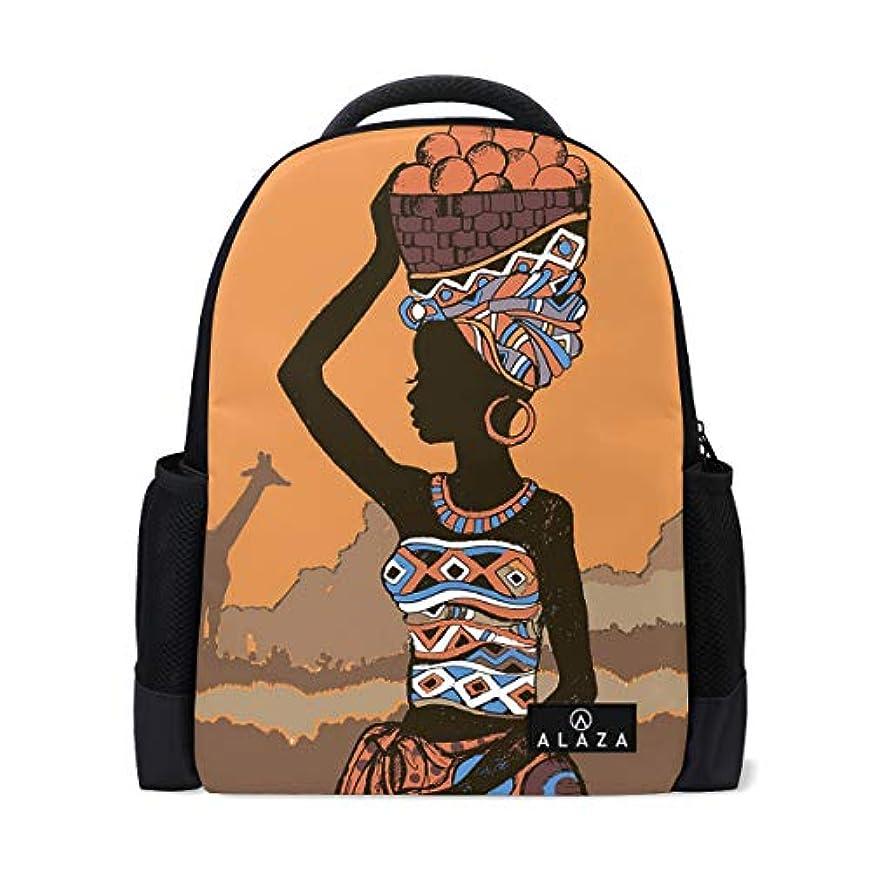 デモンストレーション主流配管アフリカの少女 リュックバック 大容量 防水 アウトドア 登山 旅行 通学 可愛い ファッション バックパック 防水 軽量 多機能 男女通用 遠足 通学 旅行 人気
