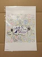 乃木坂46 メッセージ クリアファイル 5th YEAR BIRTHDAY LIVE 221 会場限定 Mobile モバイル 当選品