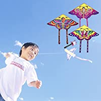 TSJPN Stunt Kite 90cm Little butterfly Delta Outdoor Fun Sports Children Toy Gifts
