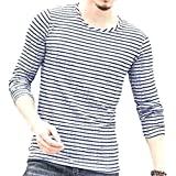 [ラルジュアルブル] カットソー ボーダー トップス Tシャツ ロンT 長袖 インナー かっこいい シンプル カジュアル