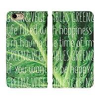 Android One S2 ベルト無し 手帳型 スマホケース スマホカバー bn482(A) レタス 萵苣 野菜 ベジタブル アンドロイドワンS2 スマートフォン スマートホン 携帯 ケース アンドロイド ワン 手帳 ダイアリー フリップ スマフォ カバー