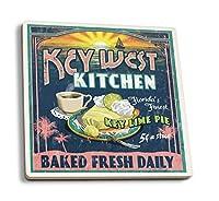 キーWest , Florida–Key Lime Pie Vintage Sign 4 Coaster Set LANT-33628-CT
