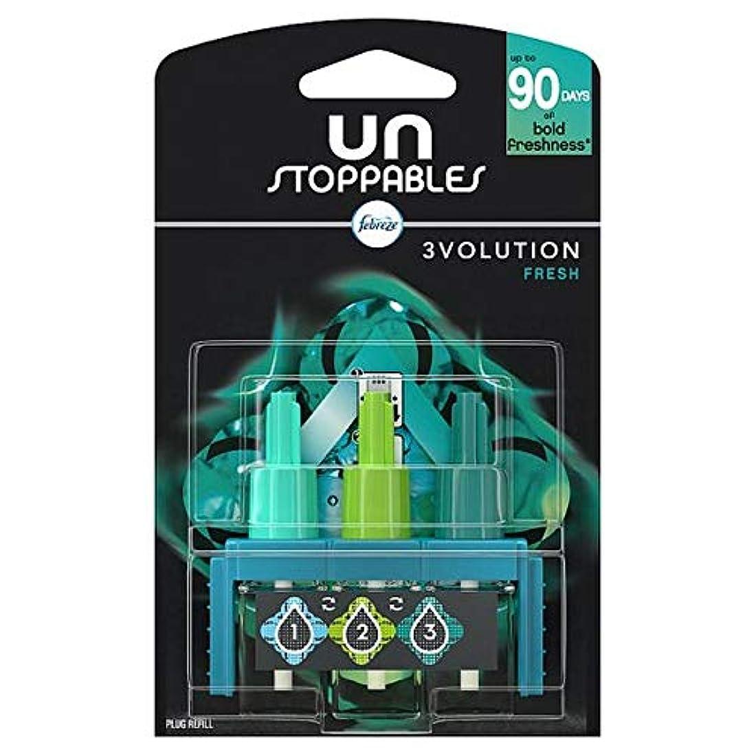ファイバ書き出す全員[Febreze] リフィル20ミリリットルでUnstoppables 3Volution新鮮なプラグイン - Unstoppables 3Volution Fresh Plug In Refill 20Ml [並行輸入品]