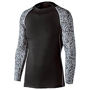おたふく手袋 ボディータフネス 冷感・消臭 パワーストレッチ 長袖クルーネックシャツ JW-623 ブラック×迷彩 S