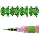 coraly ネイルアートツール 1巻500枚 紙製のネイルフォーム 長さだしジェルネイルフォーム プロ用 使い捨て(グリーン)