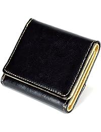 (トレリア) Trelia 財布 三つ折り財布 小銭入れ付き 本革 レザー 小型 メンズ
