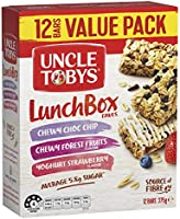 UNCLE TOBYS Muesli Bars Lunchbox Favourites, 12 Bars Value Pack, Variety Pack, 375g