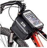 Youchan(ヨウチャン) 自転車 フレーム バッグ フロントバッグ スマホホルダー 5.5インチ iPhone6 6s Plus SE 対応 タッチスクリーン (ブラック)