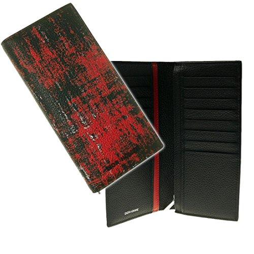 (ディオールオム)DIOR HOMME メンズ二つ折長財布(小銭入れ付き) 2DSBC002XRQ ブラック×レッド [並行輸入品]