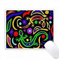 カラフルなギャコスの抽象的なアート PC Mouse Pad パソコン マウスパッド
