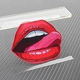 ZooooM 唇 ステッカー リップ 車 ガラス シール 舌 口 セクシー おもしろ カスタマイズ (Sサイズ:約8cm) ZM-RIPSIIRU-8