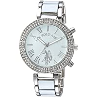 U.S. Polo Assn. Women's Quartz Metal and Alloy Dress Watch, Color:White (Model: USC40086)