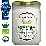 エキストラバージン ココナッツオイル(食用)ココグローブ USDA・EURO認証食品 500mlガラス瓶使用 (内容量:430g)