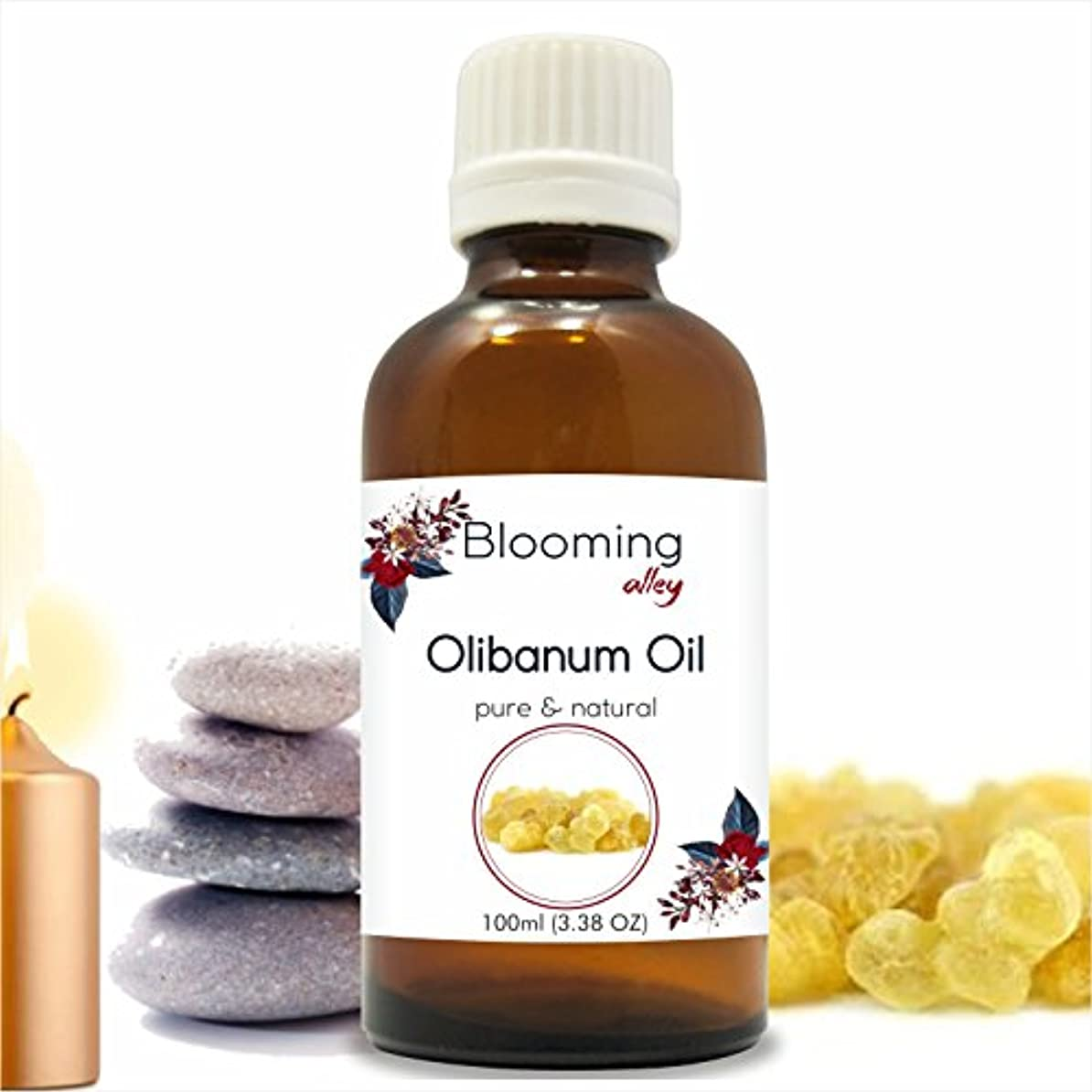 申請者硬い保全Olibanum Oil (Boswellia Serrata) Essential Oil 100 ml or 3.38 Fl Oz by Blooming Alley