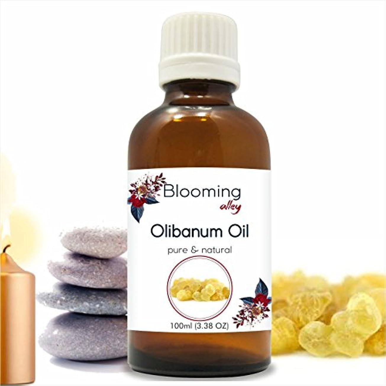 休日に木製絶えずOlibanum Oil (Boswellia Serrata) Essential Oil 100 ml or 3.38 Fl Oz by Blooming Alley