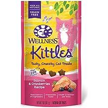 Wellness Kittles Salmon Cranberries Crunchy Cat Treats All Natural 2 oz