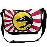 Sisiba シシバ 恐竜 デザイン アニマル柄 ゴジラ ショルダーバッグ メッセンジャーバッグ 通勤 面白い Black