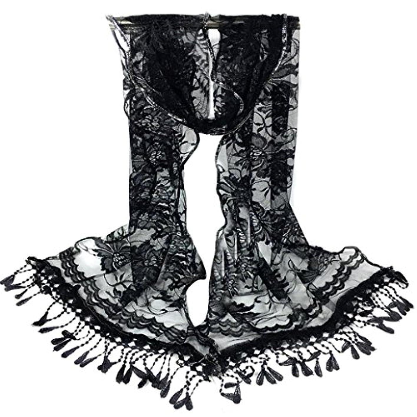 指標レギュラー関係[SakuraBest] 女性ロングスカーフタッセルショールフラワーレーススカーフ